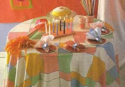 Оформление стола в честь Первого дня Рождения
