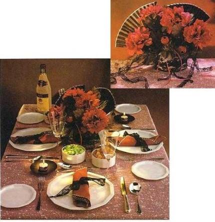 Сервировка стола в испанском стиле